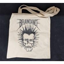 "Cotton Bag ""Braindance Skull"" natural"