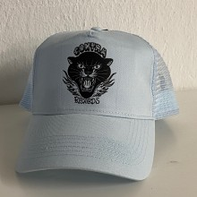 "Contra Records ""Black Panther"" - Trucker Cap sky blue"