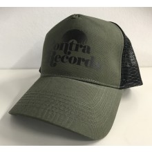 "Contra Records ""Vinyl"" - Trucker Cap army green/black"