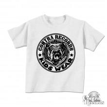 "Contra Records ""Kids Wear - Bulldog"" Kids Shirt grey"