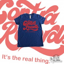 """Contra Records """"it's the real thing"""" Kids Shirt blue"""