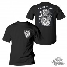 "Cheap Stuff - ""Kings And Pawns"" - T-Shirt black front/backprint"