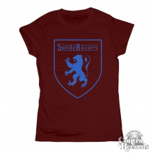 Suede Razors -  Lion  - Girl Shirt oxblood