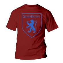 Suede Razors - Lion -T-Shirt oxblood