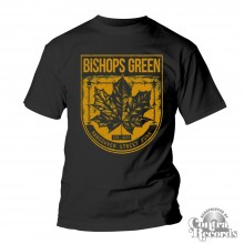 "Bishops Green - ""Leaf"" - T-Shirt black/yellow"