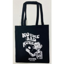 "Cotton Bag - ""no time for bad music"" black"