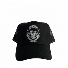"""Contra Records """"Black Panther"""" - Trucker Cap white on black"""
