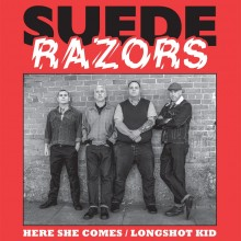 "Suede Razors ‎- Here She Comes / Longshot Kid 7""EP lim 200  orange crush"