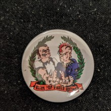 Skins and Punks United  - Button 37mm