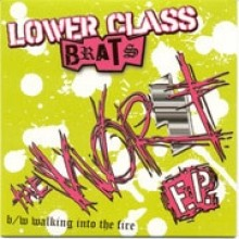 "Lower Class Brats ‎- The Worst 7""EP lim. Green White Splatter"