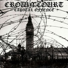 """Crown Court - Capital Offence 12""""LP lim.500 rp silver and black splatter"""
