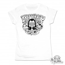 """Brechraitz - """"Drei Affen"""" Girl Shirt white"""