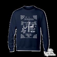 Skinheads - by Duck Plunkett - Crewneck Sweatshirt navy blue