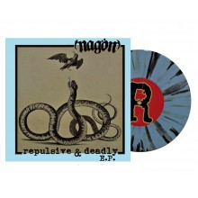 "Nagön - ""Repulsive & Deadly"" 7""EP lim.200 blue white black splatter"
