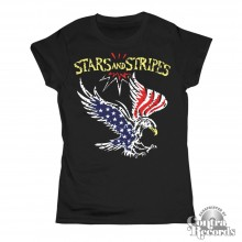 "Stars and Stripes - ""eagle"" Girl Shirt black"