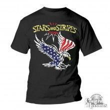 "Stars and Stripes - ""eagle"" T-Shirt black"