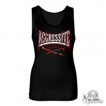AGGRESSIVE - knife Girl Tanktop black