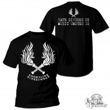 "Frontline Streetwear -""Torches"" T-Shirt black front/backprint"