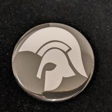 Trojan black - Big Button 56mm