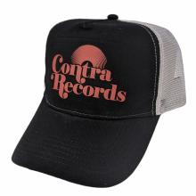 "Contra Records ""Vinyl"" - Trucker Cap red on black/grey"