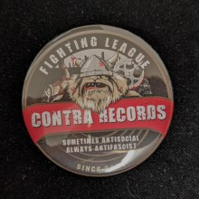 Contra Records - antisocial Viking - Big Button 56mm