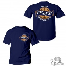 Subculture for Life - Worldwide Crew '09 - T-Shirt navy blue front/backprint