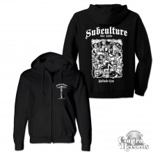 "Subculture for Life - ""Worldwide Crew"" - Zip Hooded Jacket black"